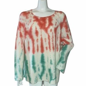 For The Republic Knit Scoop Neck Sweater Tied Dyed